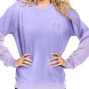 PINK Victoria's Secret purple lilac velour sweater